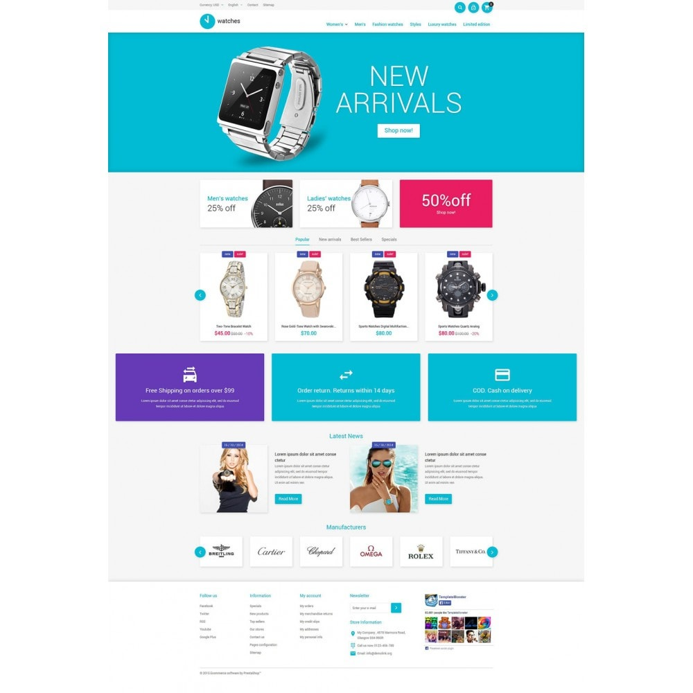theme - Mode & Schoenen - Watches Store - 2