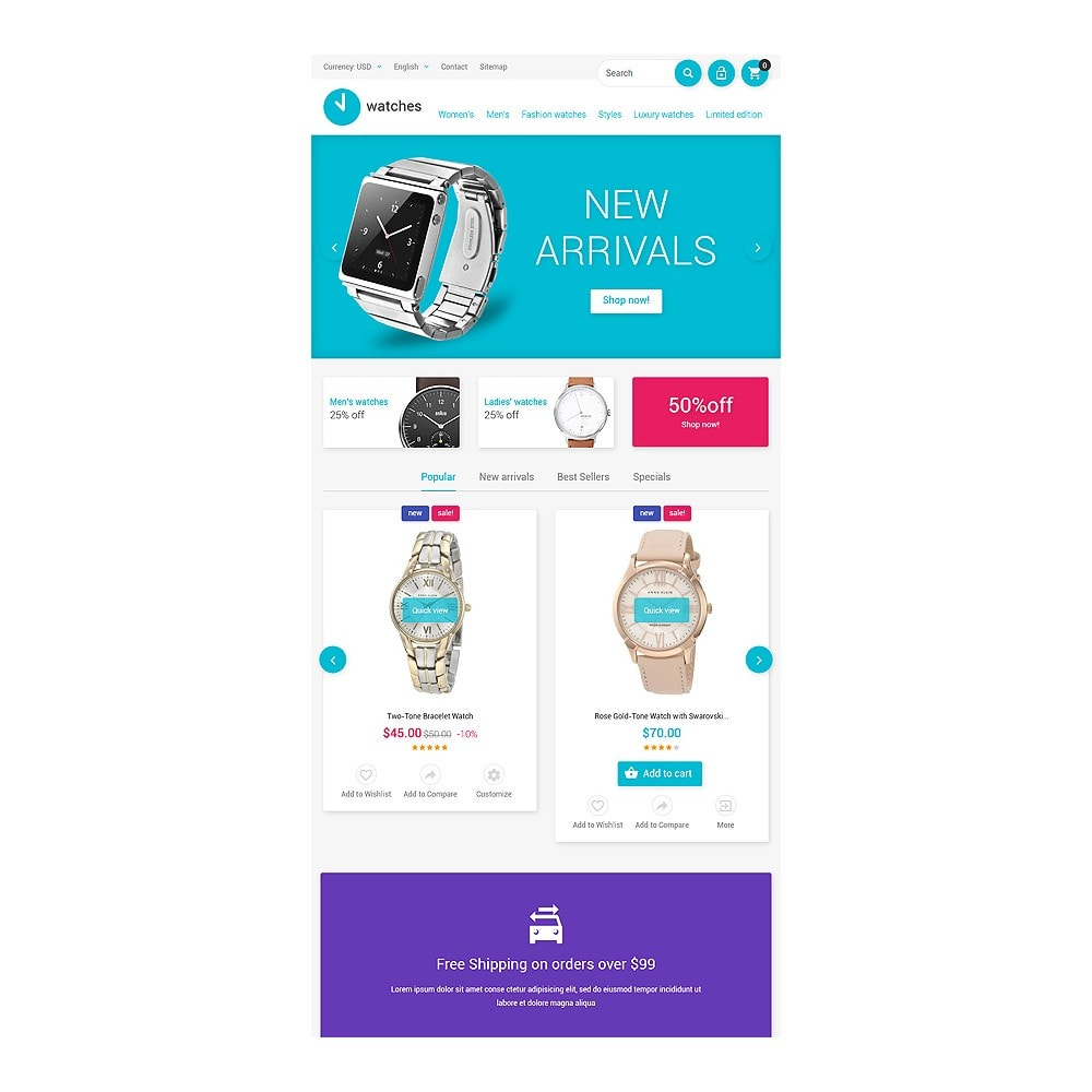 theme - Fashion & Shoes - Watches Store - 7
