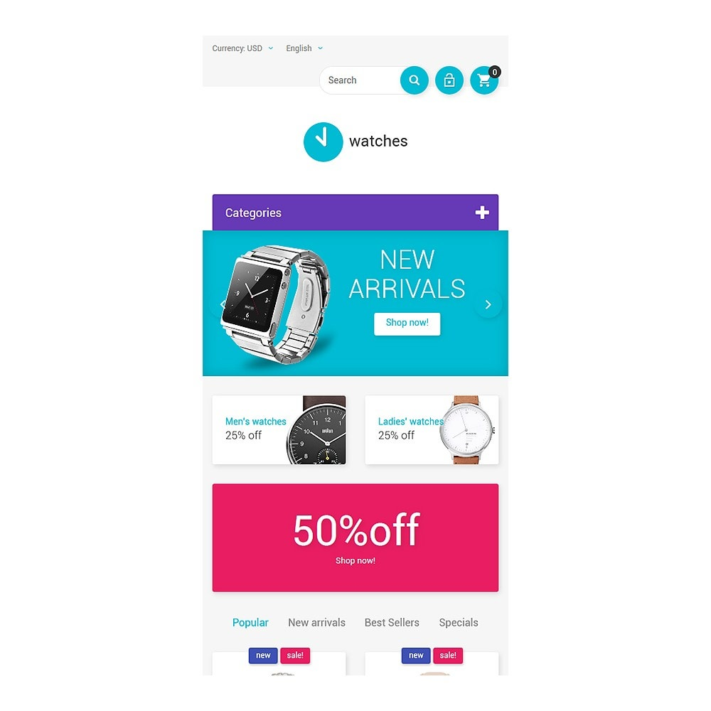 theme - Fashion & Shoes - Watches Store - 8