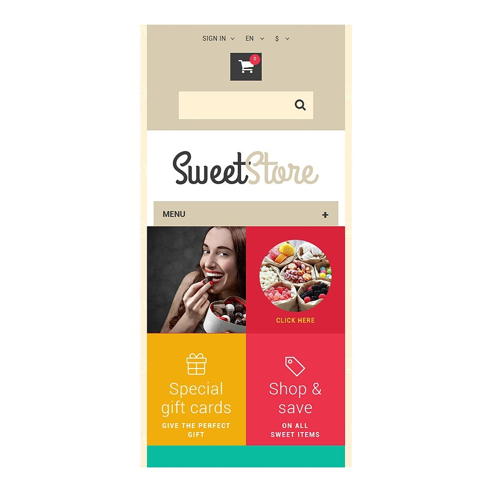 theme - Alimentation & Restauration - Sweetie - 8