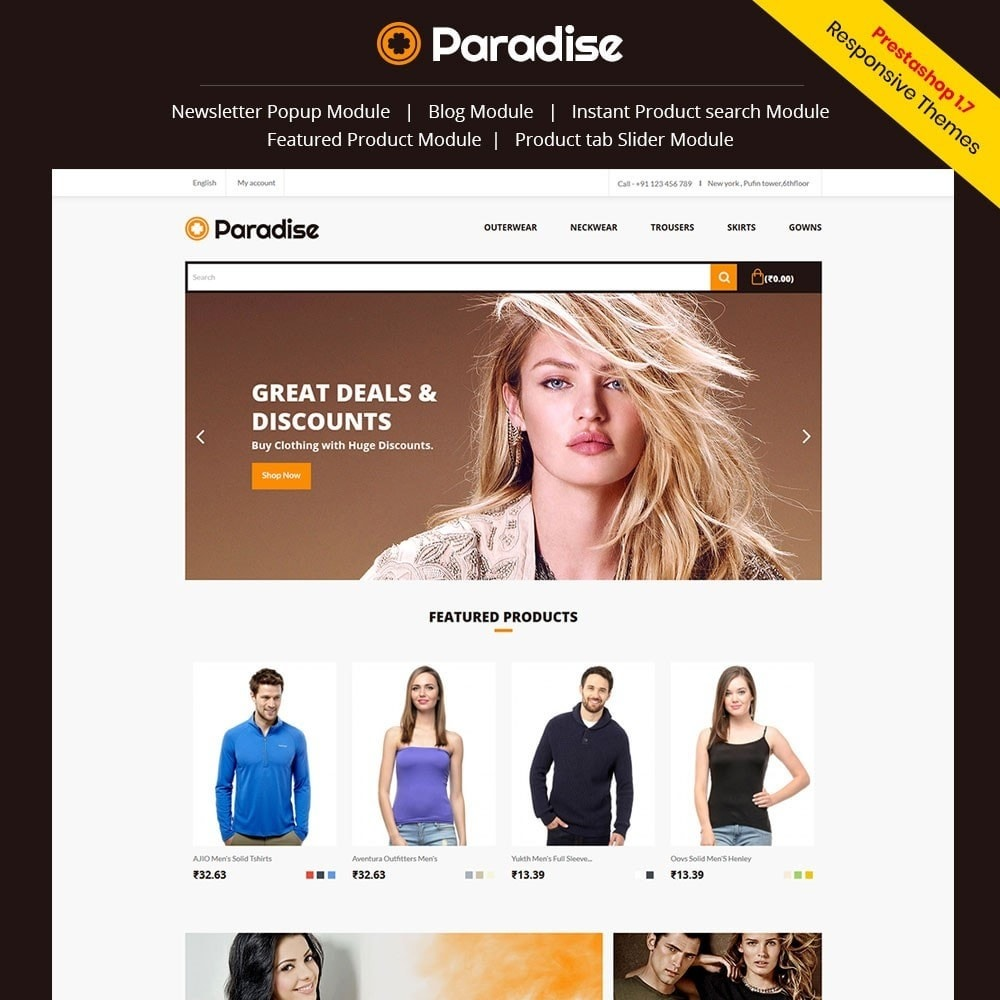 theme - Mode & Chaussures - Paradise - Fashion Store - 1