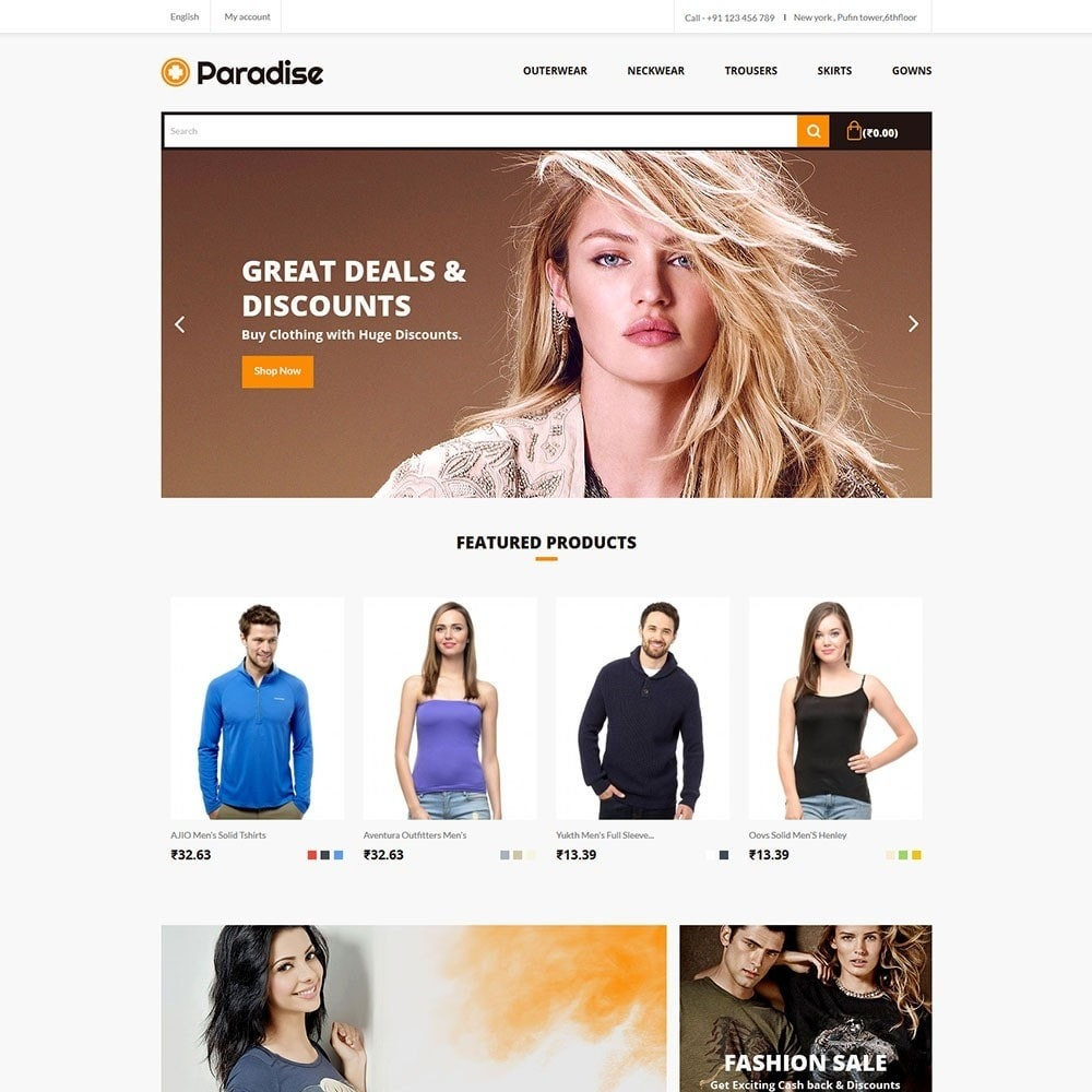 theme - Moda & Obuwie - Paradise - Fashion Store - 2