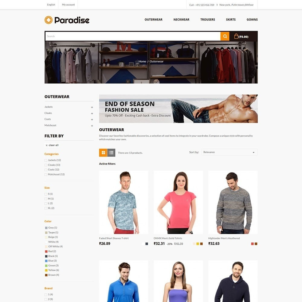 theme - Mode & Chaussures - Paradise - Fashion Store - 3