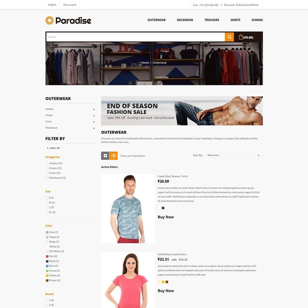 theme - Mode & Chaussures - Paradise - Fashion Store - 4