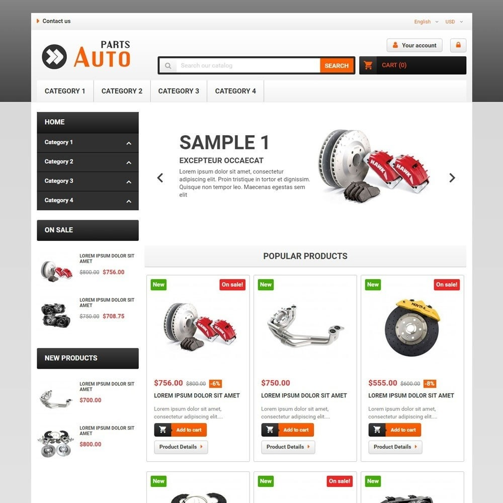 theme - Samochody - AutoParts - 1