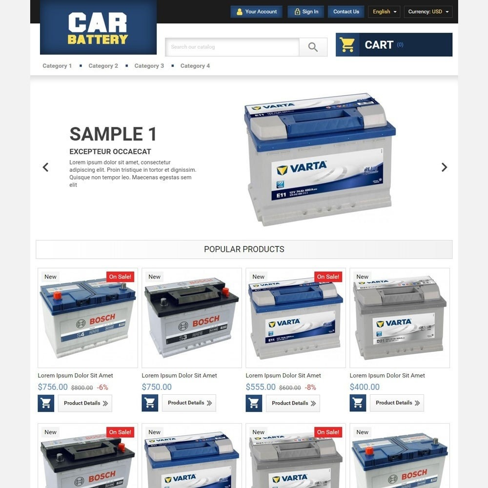 theme - Automotive & Cars - CarBattery - 1