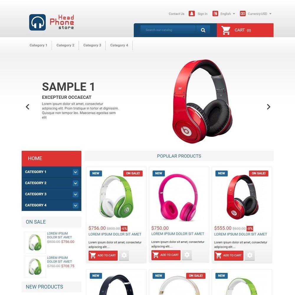 theme - Eletrônicos & High Tech - HeadphoneStore - 1