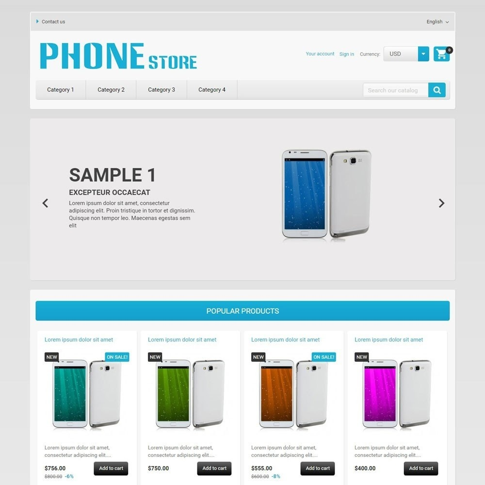 theme - Electrónica e High Tech - PhoneStore - 1
