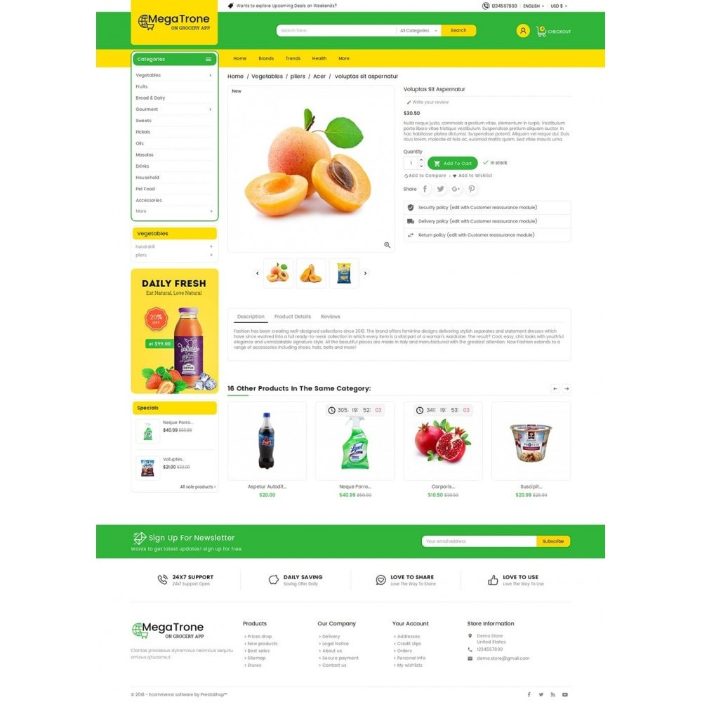 theme - Alimentation & Restauration - Mega Trone Grocery - 6