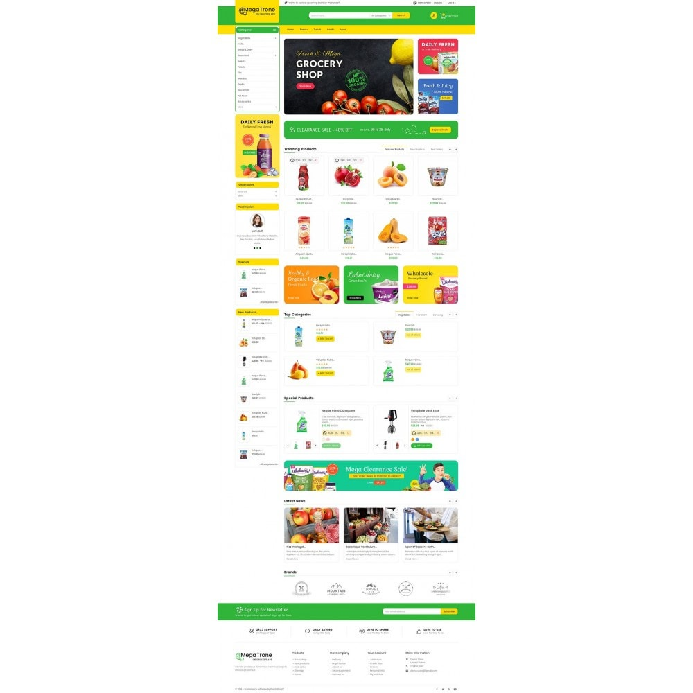 theme - Gastronomía y Restauración - Mega Trone Grocery - 3