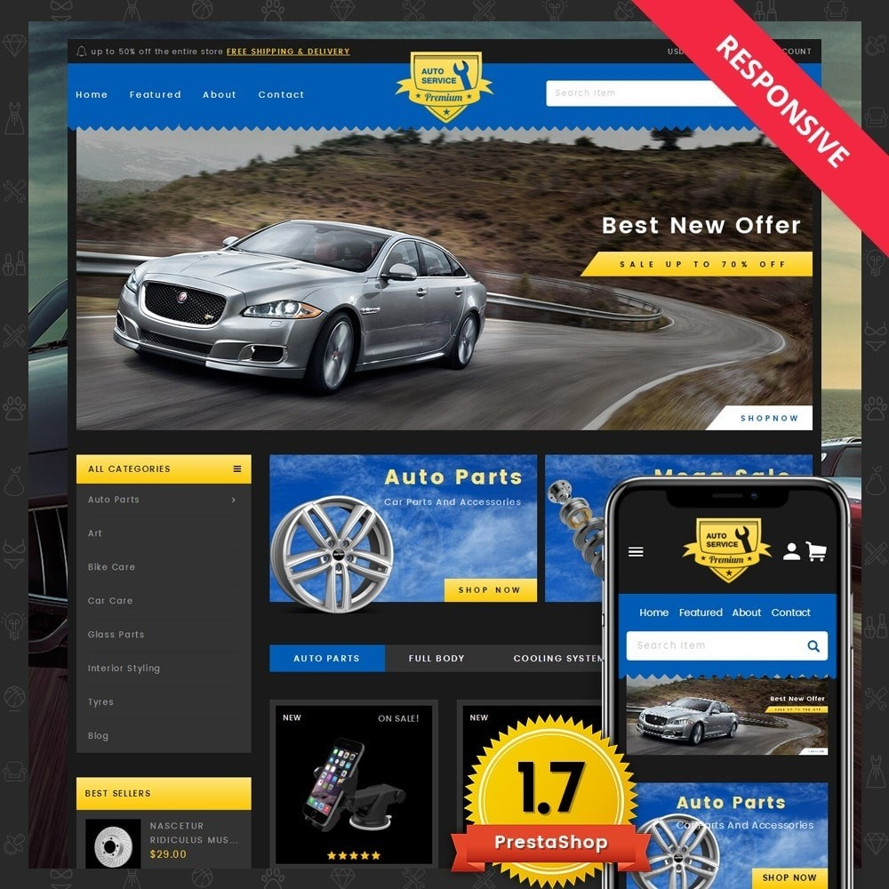 theme - Automotive & Cars - Auto Service - Premium Store - 1