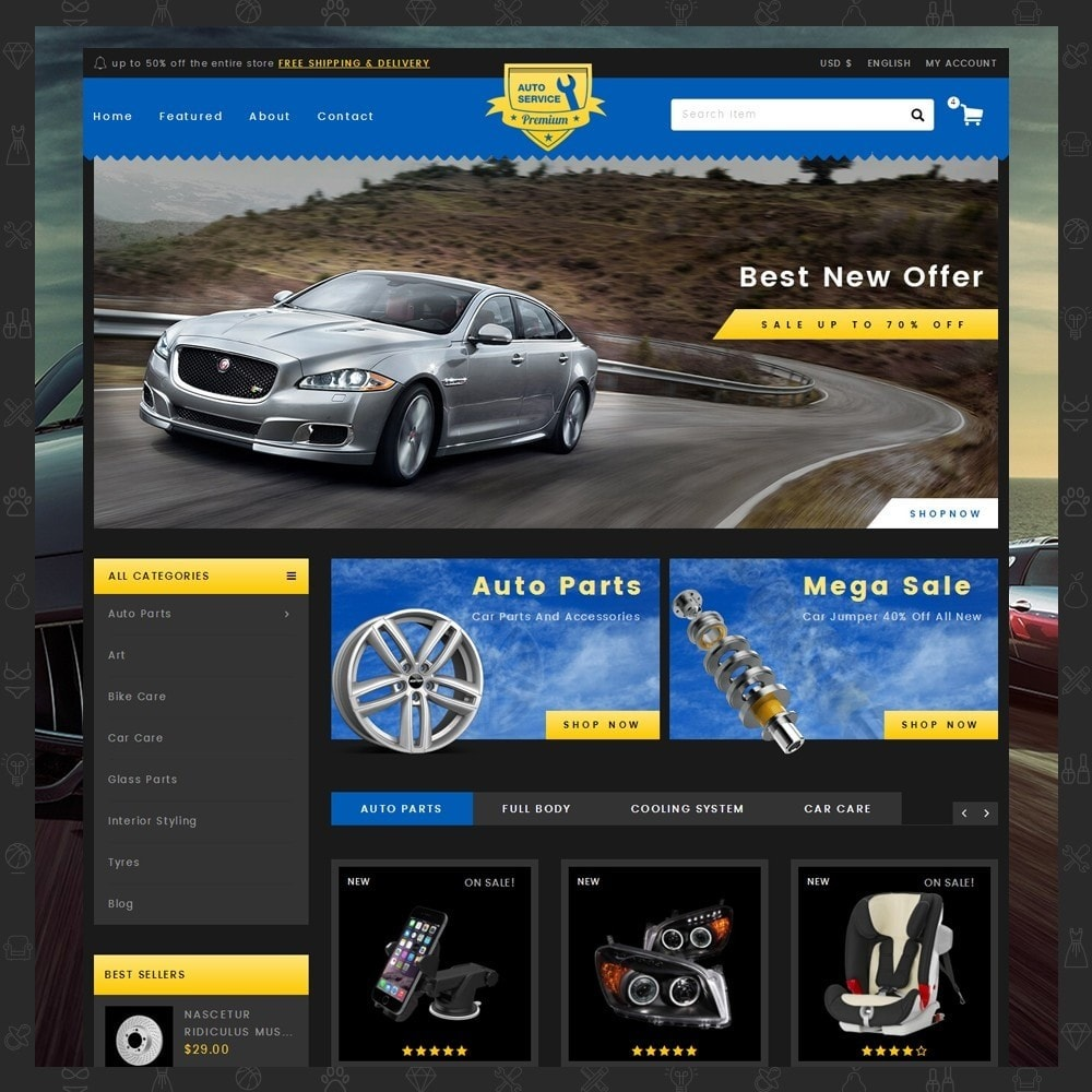 theme - Automotive & Cars - Auto Service - Premium Store - 2