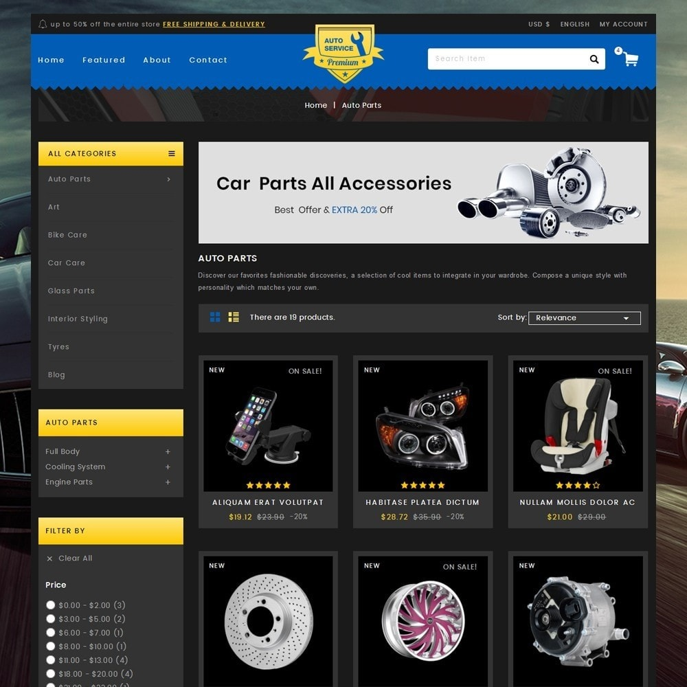 theme - Automotive & Cars - Auto Service - Premium Store - 3