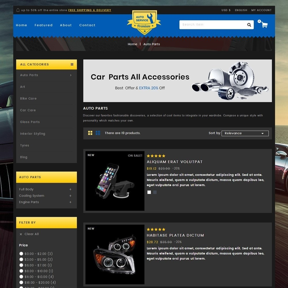 theme - Automotive & Cars - Auto Service - Premium Store - 4