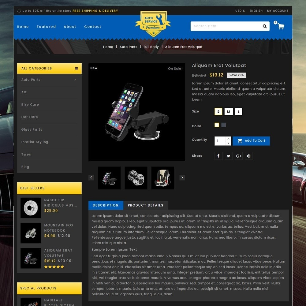 theme - Automotive & Cars - Auto Service - Premium Store - 5