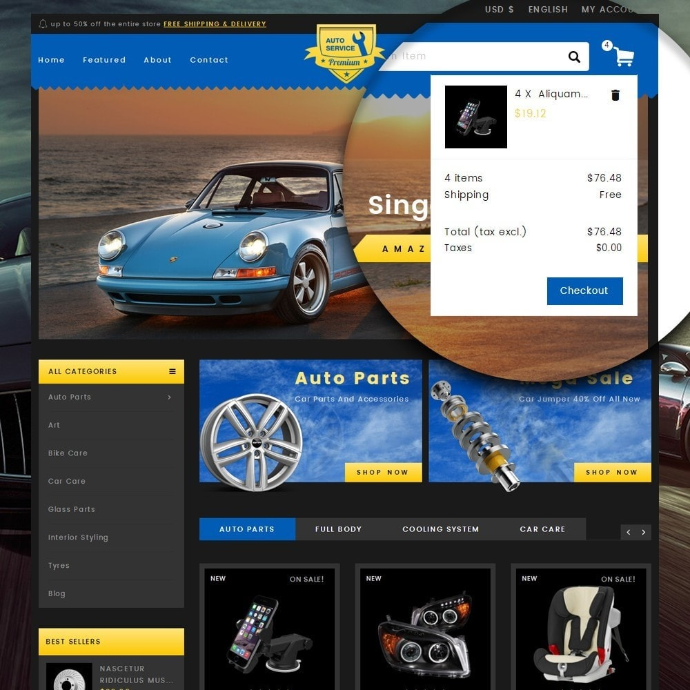 theme - Automotive & Cars - Auto Service - Premium Store - 7