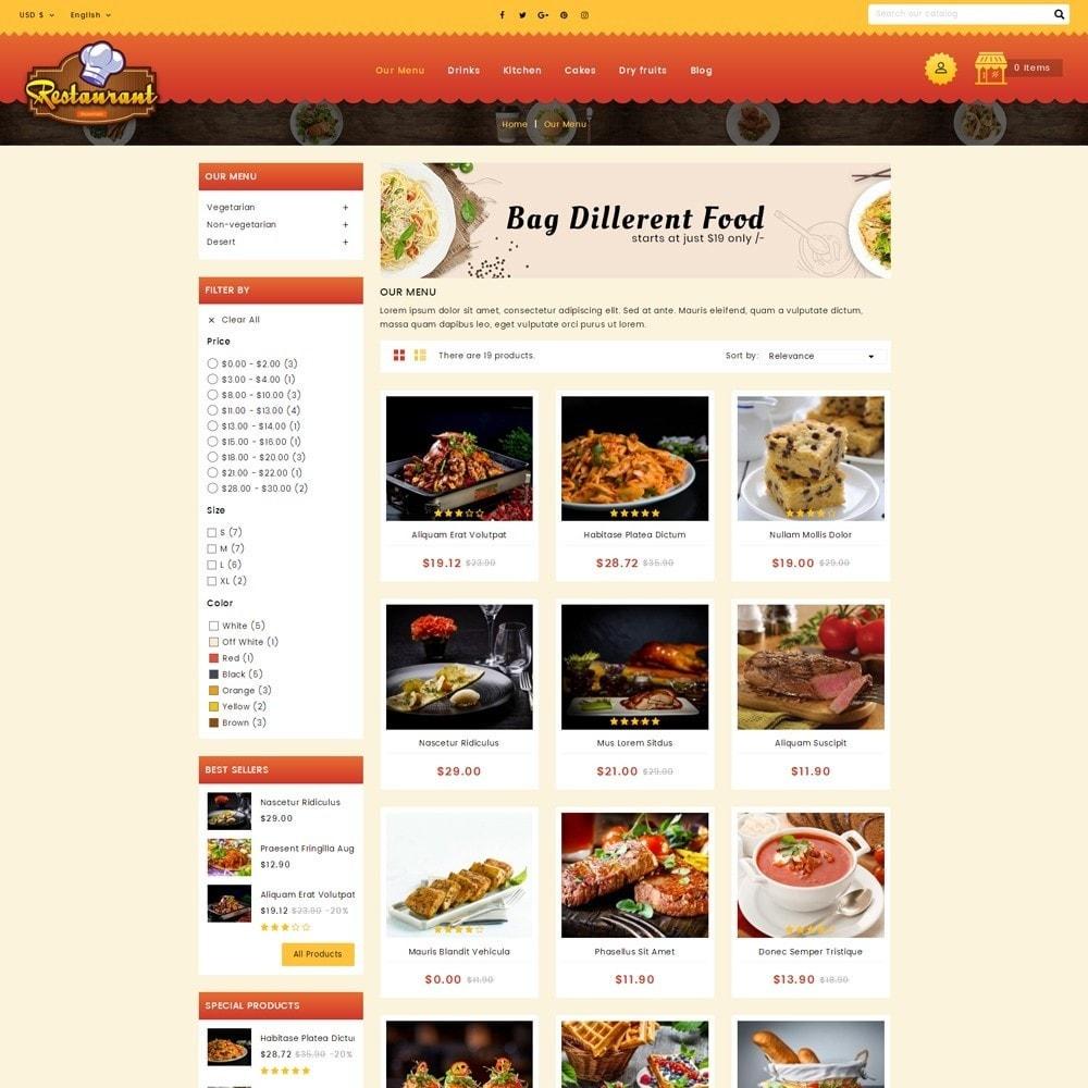theme - Alimentos & Restaurantes - Restaurant Food Store - 3