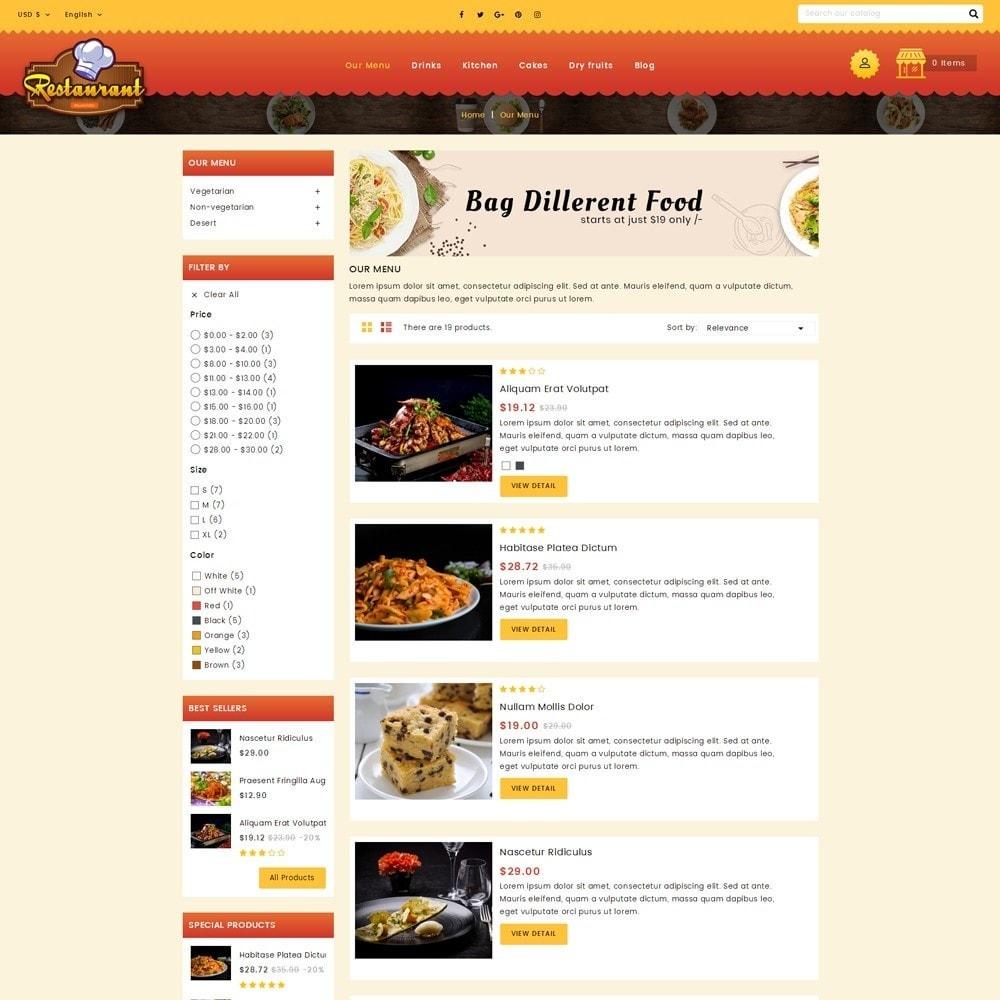 theme - Alimentos & Restaurantes - Restaurant Food Store - 4