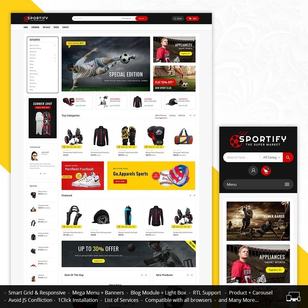 theme - Sport, Loisirs & Voyage - Mega Shoppe Sports - 2