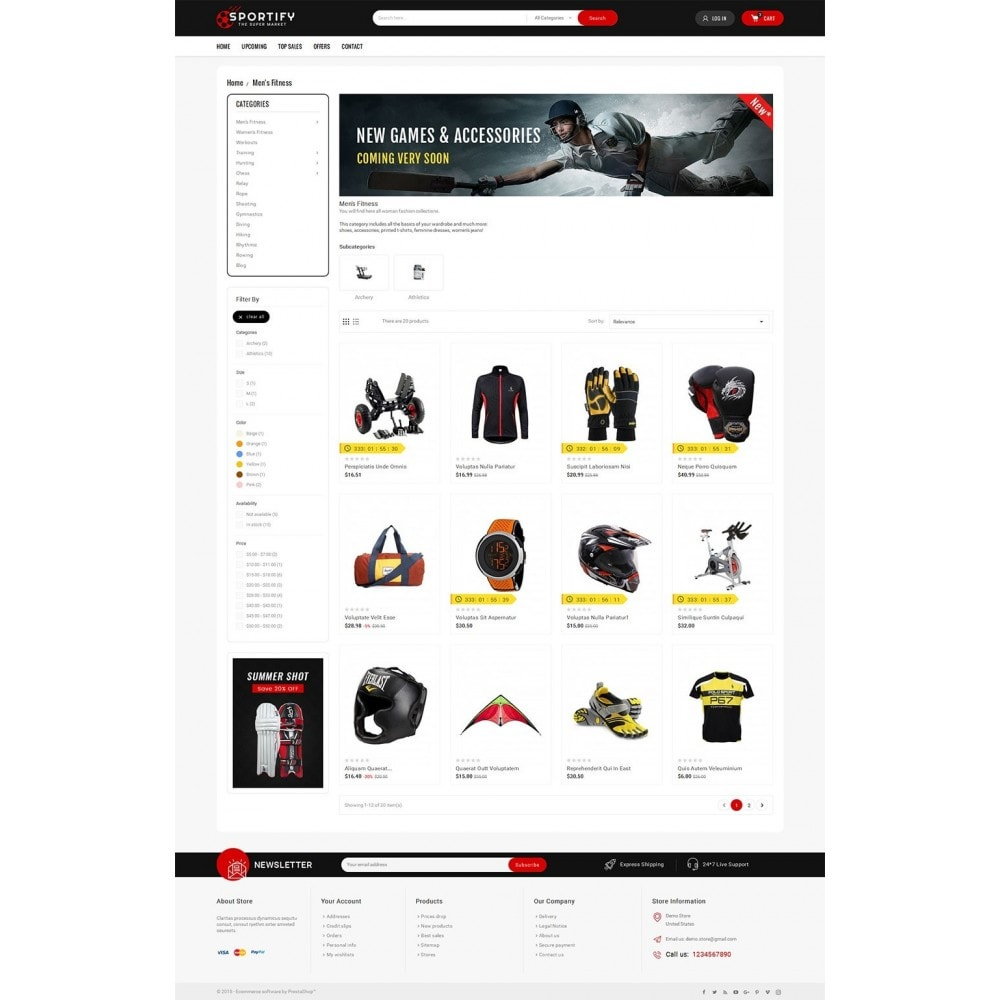 theme - Sport, Loisirs & Voyage - Mega Shoppe Sports - 4