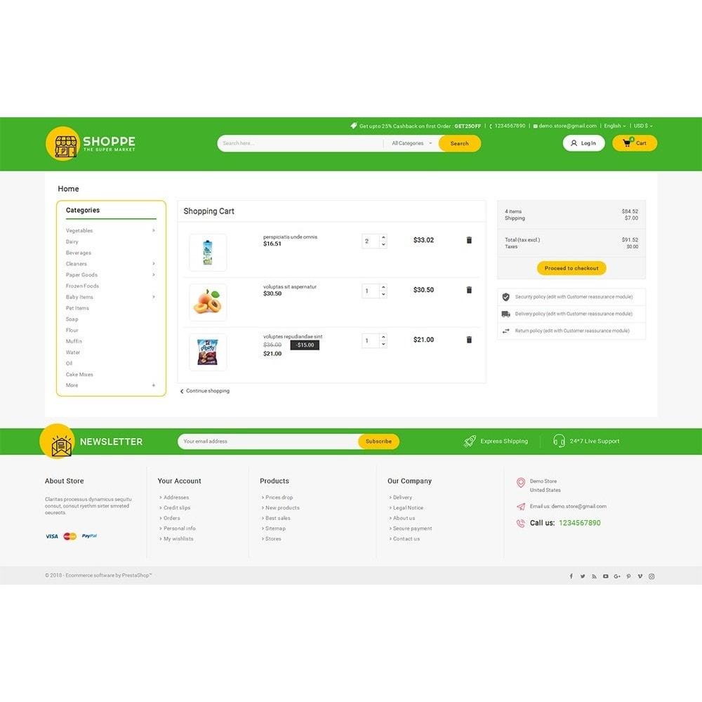 theme - Cibo & Ristorazione - Mega Shoppe Grocery - 7