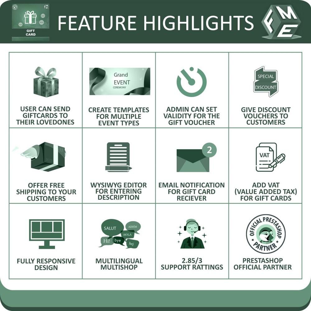module - Lista de desejos & Vale-presente - Gift Card Module - Gift Card Certificates & Vouchers - 2