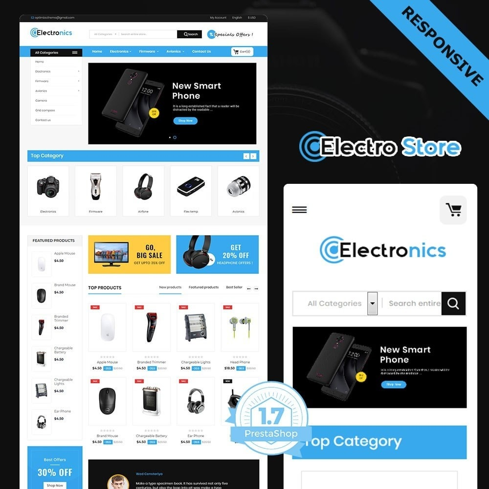 theme - Electrónica e High Tech - electronic store - 2