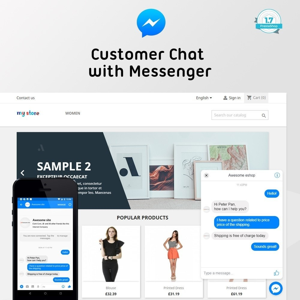 module - Support & Chat Online - Facebook Customer Chat - 1