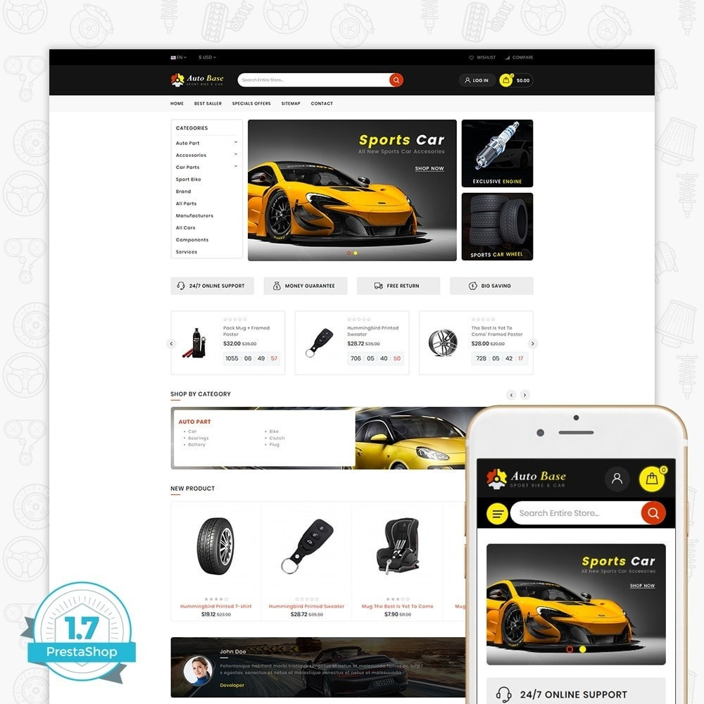 theme - Carros & Motos - Autobase - Sport Bike & Car - 1