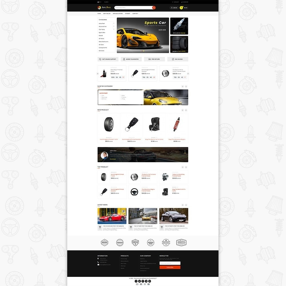 theme - Carros & Motos - Autobase - Sport Bike & Car - 2