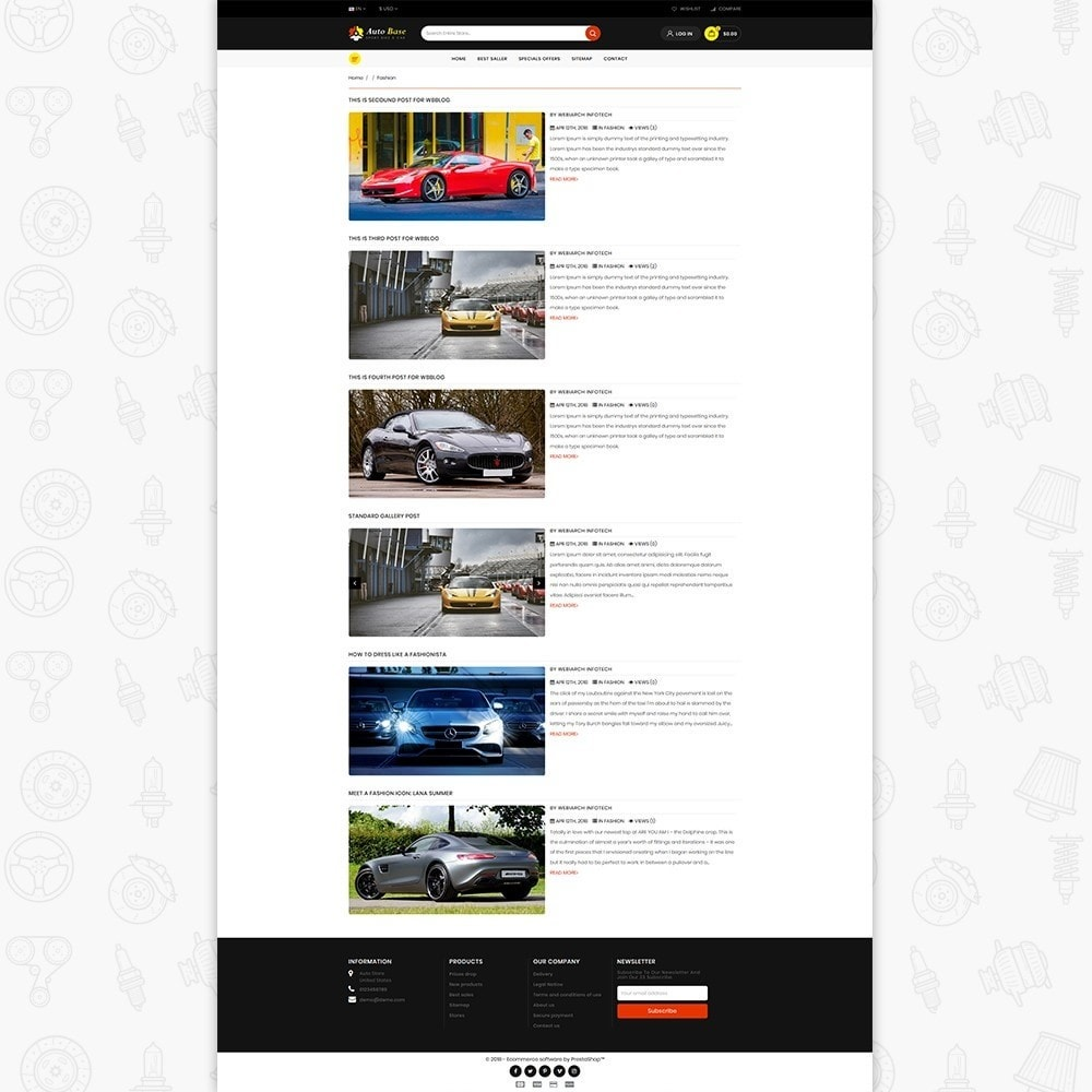 theme - Carros & Motos - Autobase - Sport Bike & Car - 6