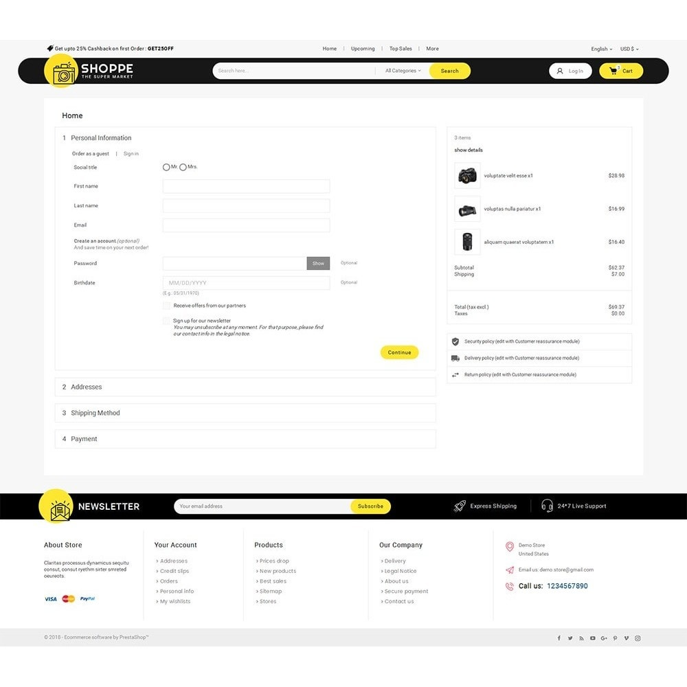 theme - Electrónica e High Tech - Mega Shoppe Camera - 8