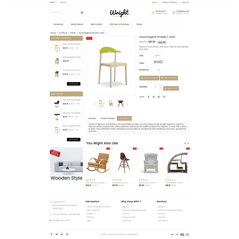theme - Dom & Ogród - Wright Furniture Store - 5