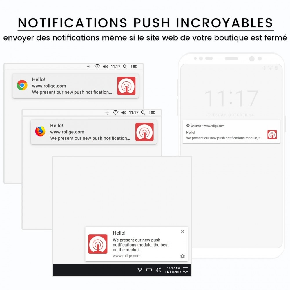 module - Remarketing & Paniers Abandonnés - Notifications Push du Navigateur Web avec OneSignal - 2