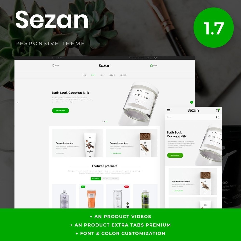 theme - Saúde & Beleza - Sezan Cosmetics - 1