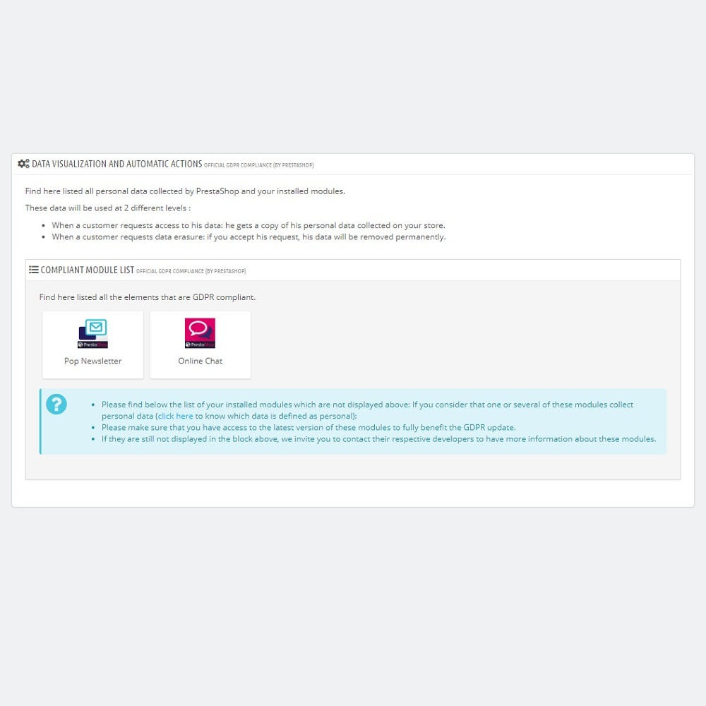 module - Juridisch - Official GDPR Compliance by PrestaShop (1.6) - 3