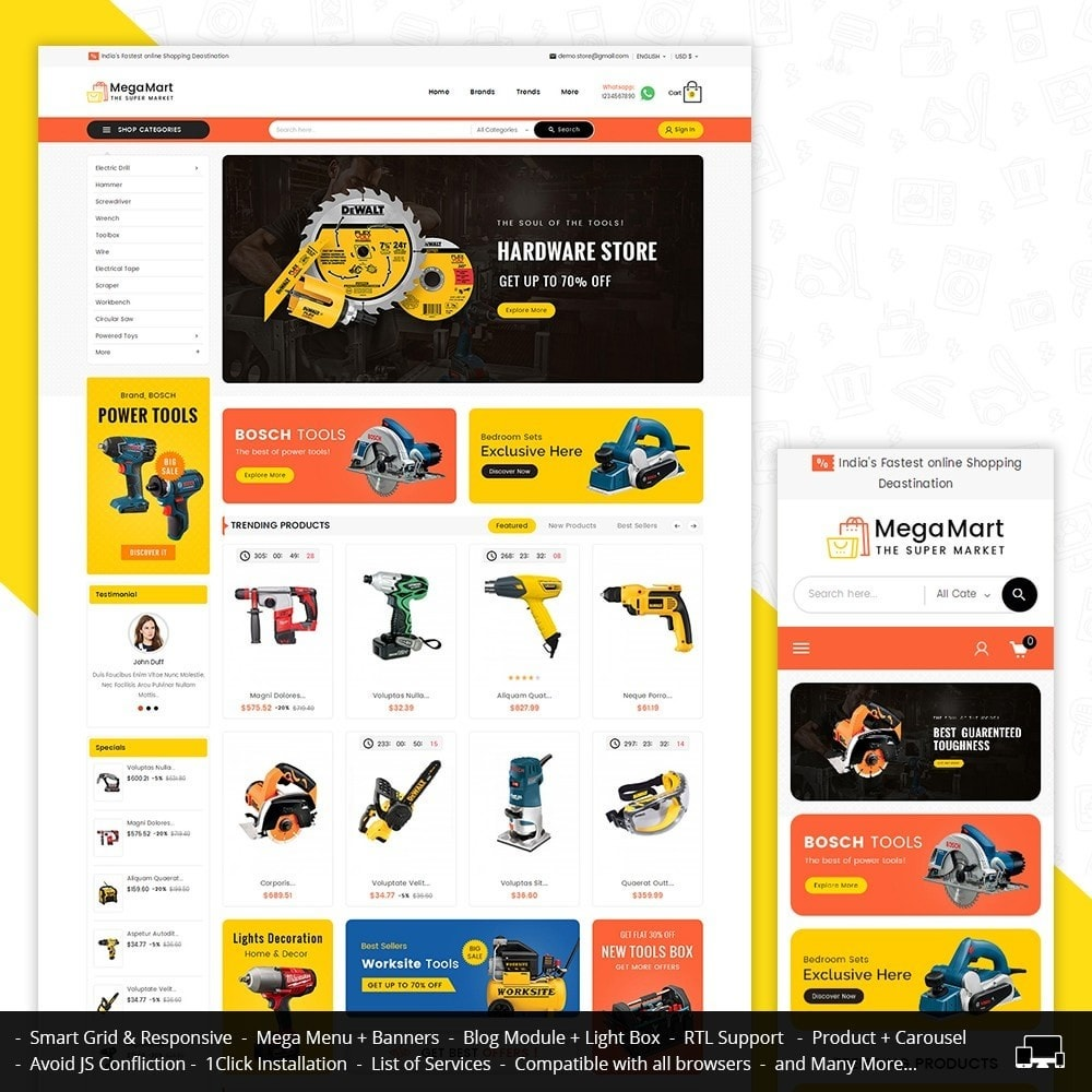theme - Elektronik & High Tech - Mega Mart Tools Equipment - 2