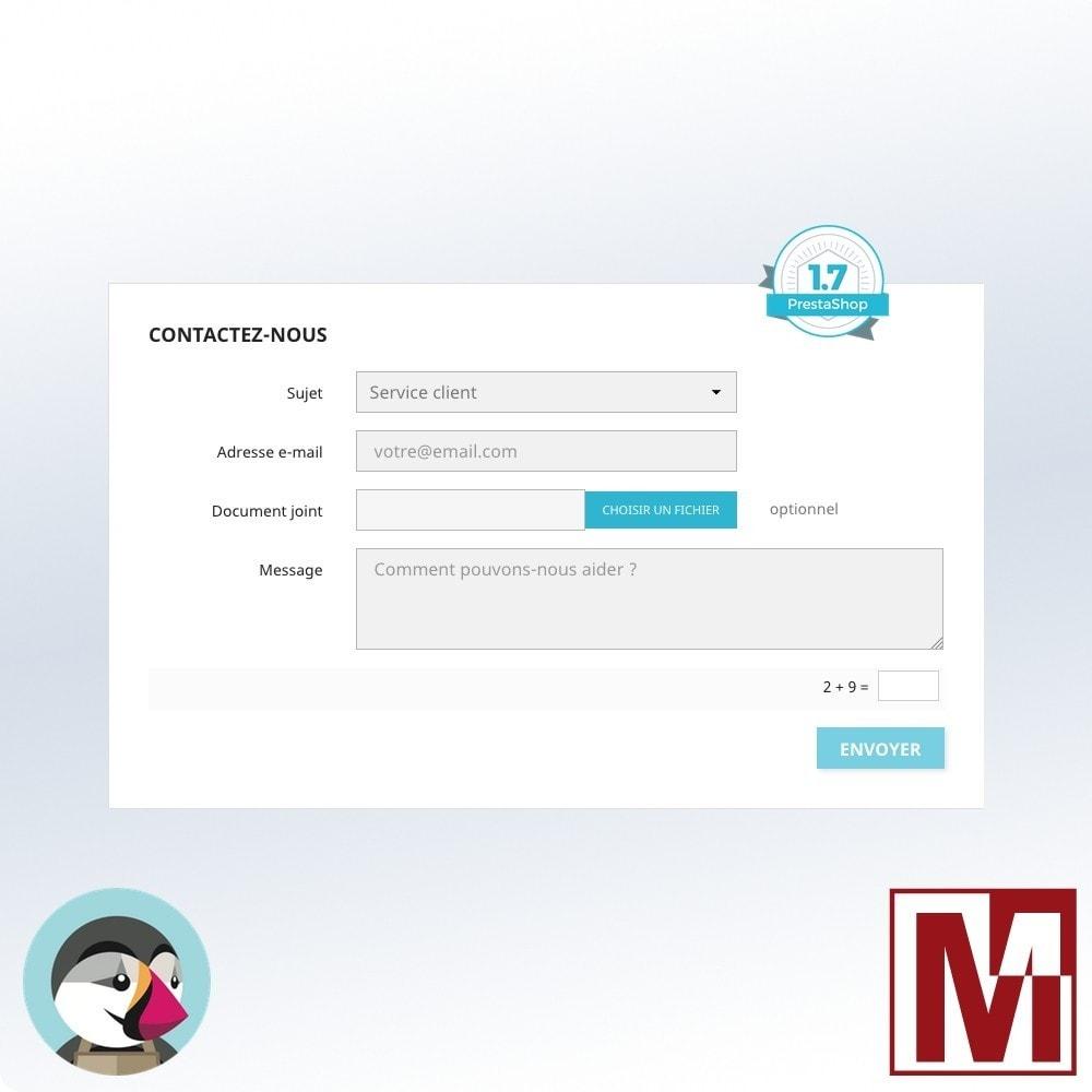 module - Sécurité & Accès - Captcha mathématique, une meilleure sécurisation - 2