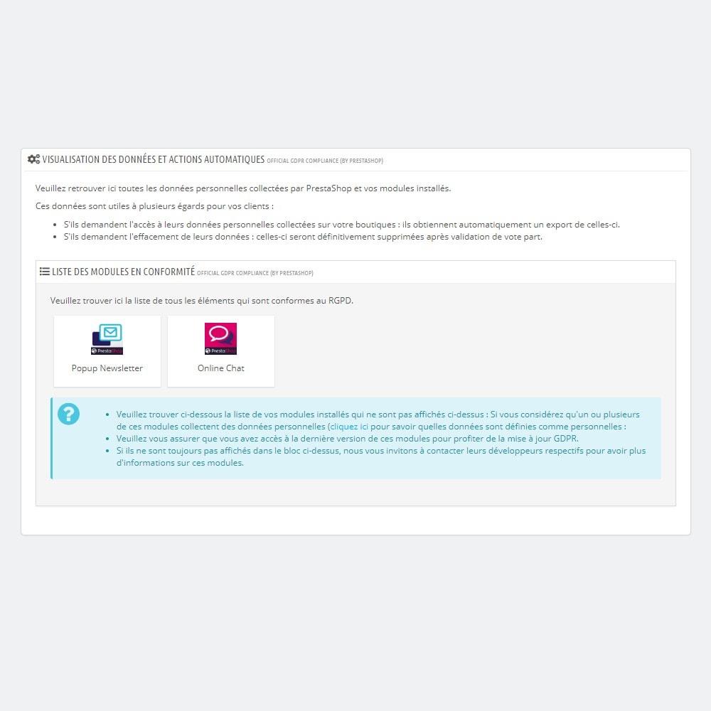 module - Législation - RGPD Officiel by PrestaShop (1.7) - 3
