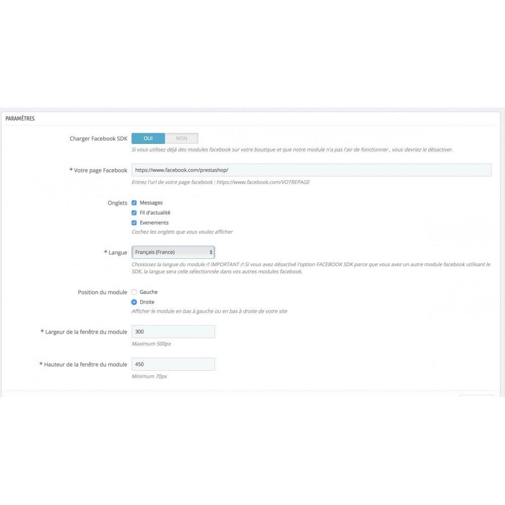 module - Service Client - FB Social Messenger Contact Page - 3