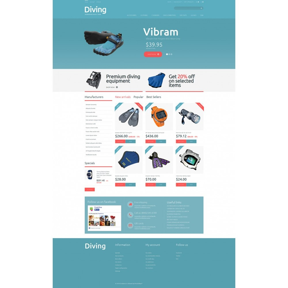 theme - Deportes, Actividades y Viajes - Diving Shop - 2