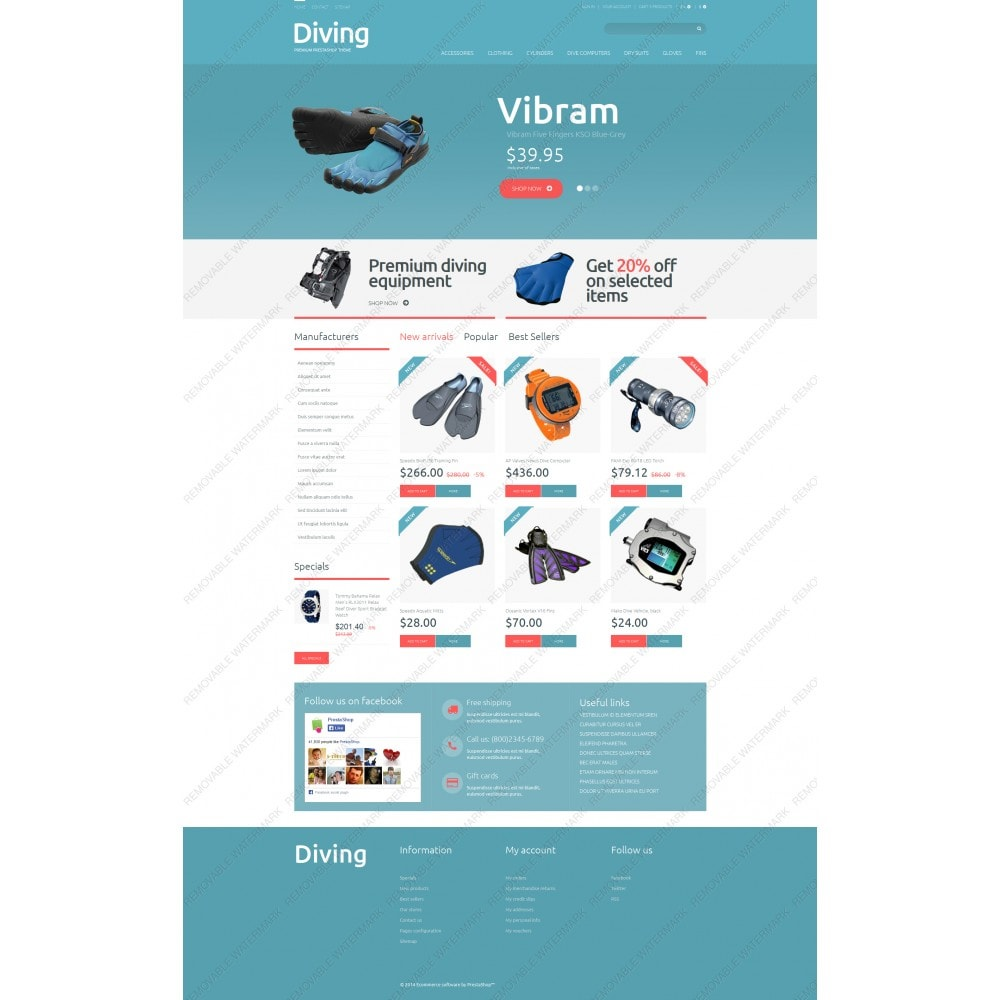 theme - Sports, Activities & Travel - Diving Shop - 5