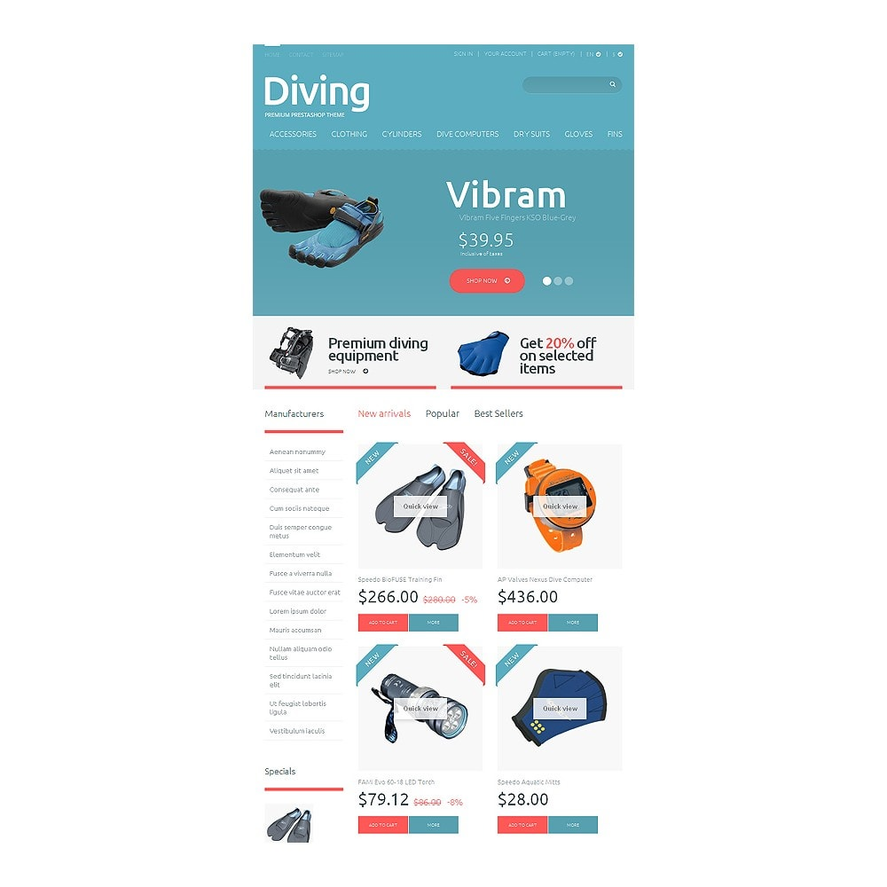 theme - Sports, Activities & Travel - Diving Shop - 7