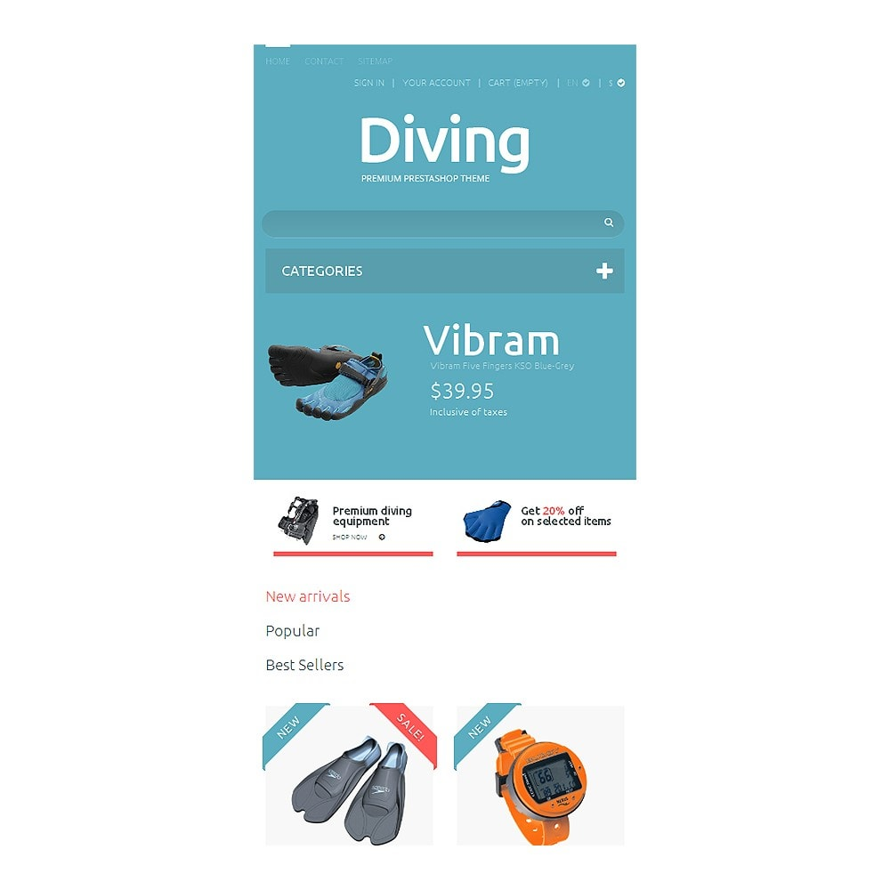 theme - Sports, Activities & Travel - Diving Shop - 8