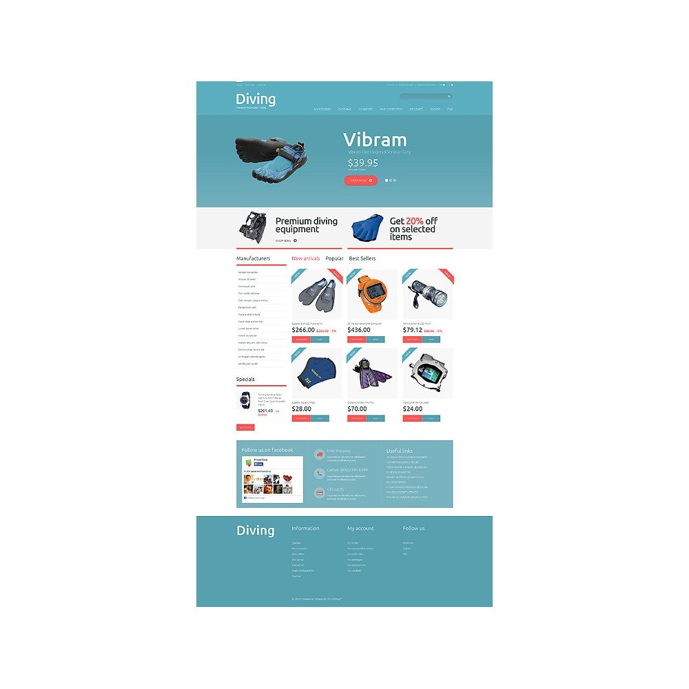 theme - Sport, Activiteiten & Reizen - Diving Shop - 10