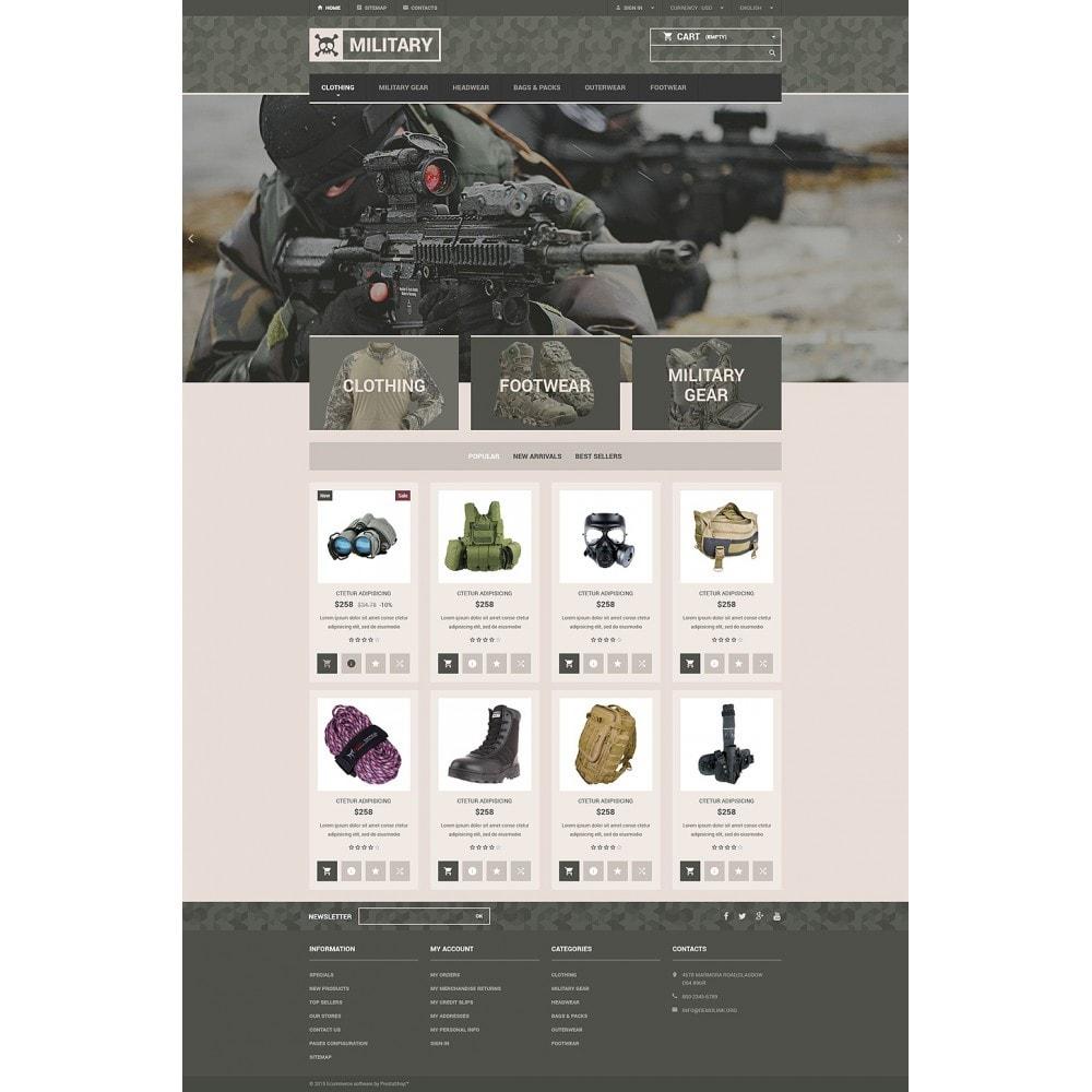 theme - PrestaShop Templates - Military Gear Store - 2