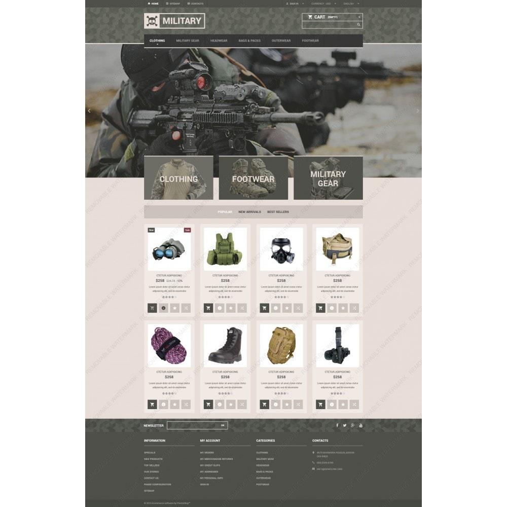 theme - PrestaShop Templates - Military Gear Store - 3