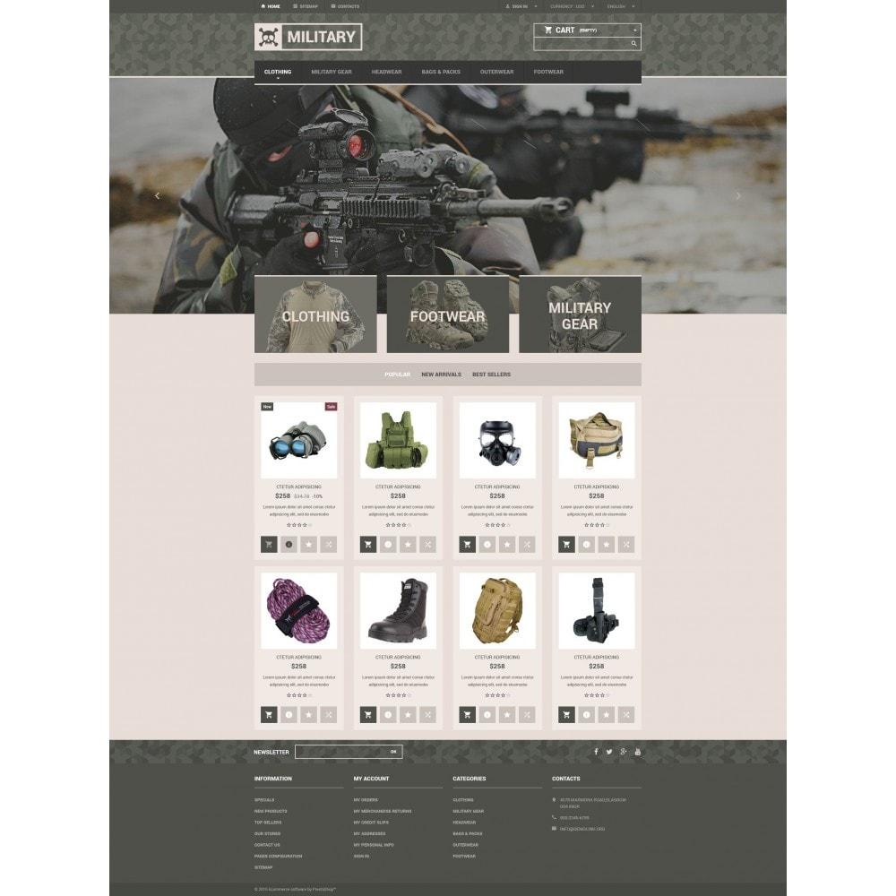 theme - PrestaShop Templates - Military Gear Store - 4