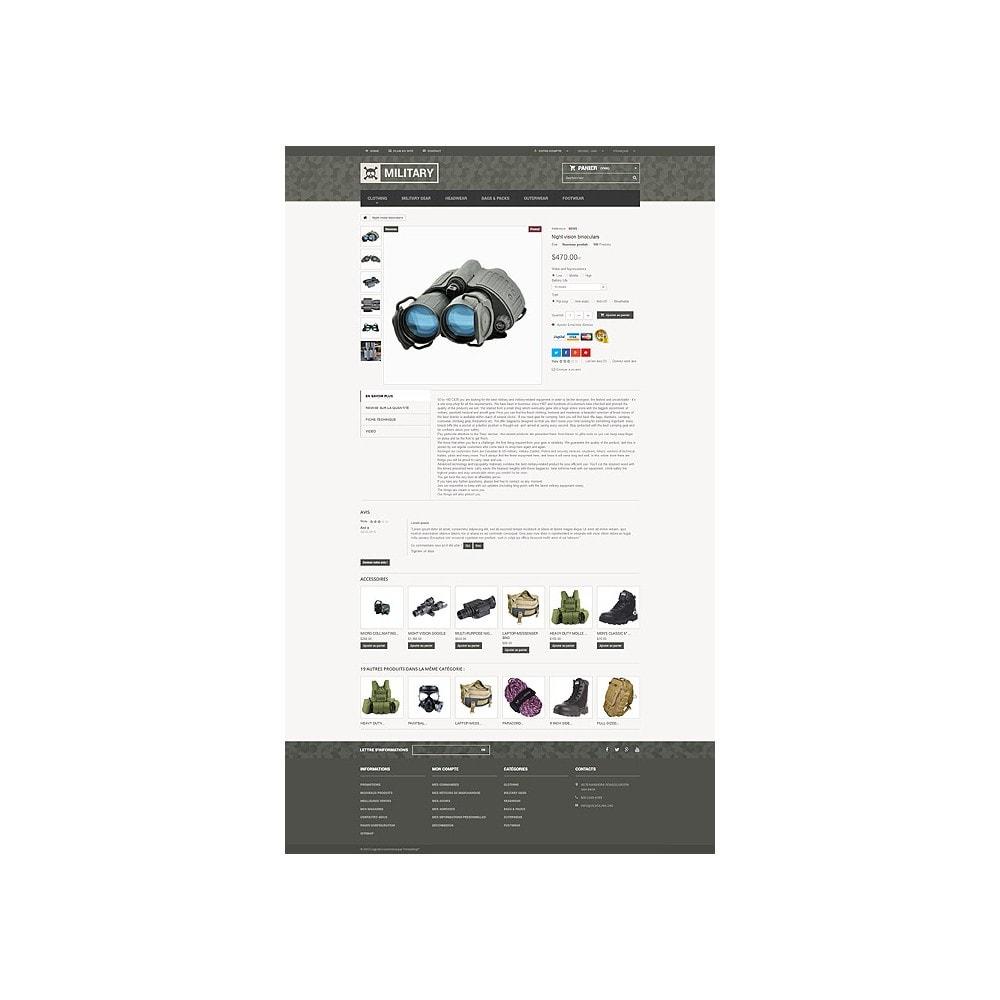 theme - PrestaShop Templates - Military Gear Store - 6