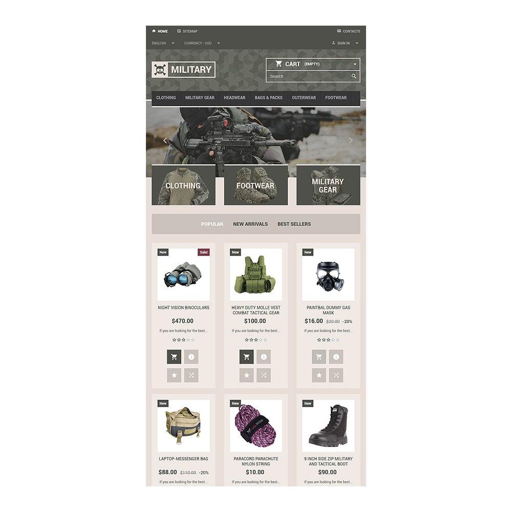 theme - PrestaShop Templates - Military Gear Store - 7
